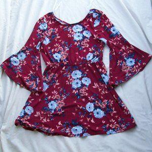 My Michelle Girls' Belle Sleeve Dress - Size 16